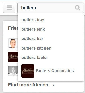 Pinterest promoted pins - search for butlers