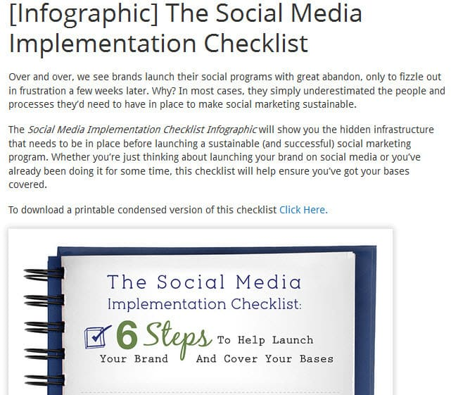 Using an infographic to build your email list