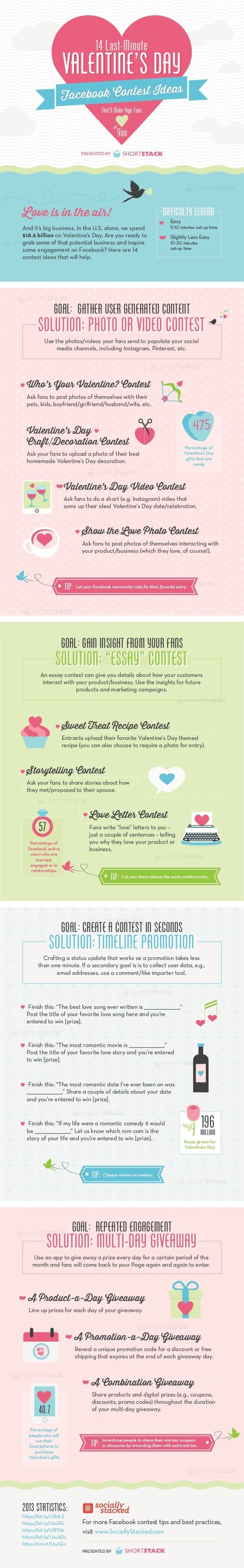 Four visual content marketing Valentines Day campaigns using Facebook, Instagram, Pinterest, Snapchat and Twitter