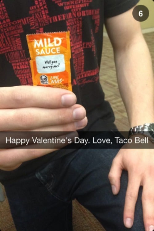 Snapchat Valentines Day Campaign from Taco Bell