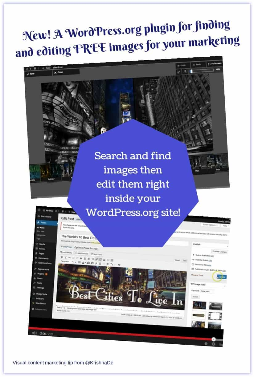 New! A WordPress.org plugin for finding and editing images for your visual content marketing