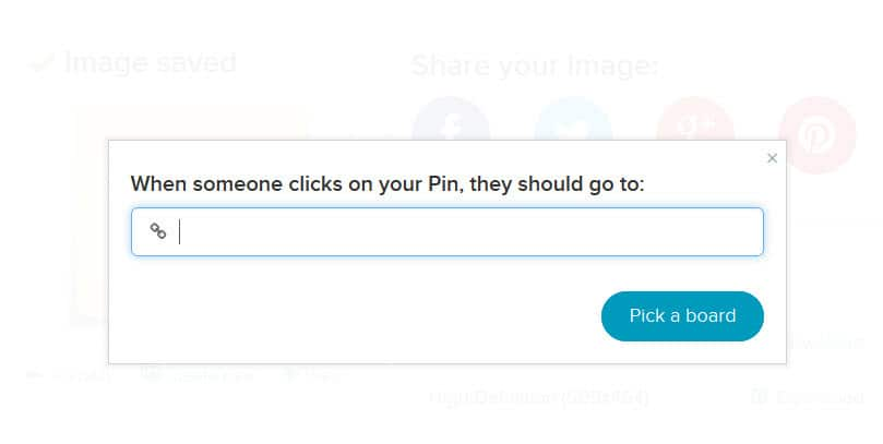 When sharing to Pinterest you can add the URL that you want to direct people to go to from the Pinterest post