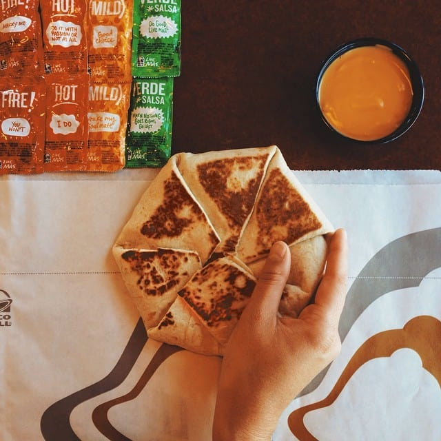 TacoBell on Instagram - tips on how to use Instagram to market your food business showcasing Instagram case studies for food brands