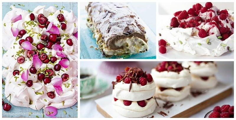A dozen delicious and decadent Pavlova recipes from Cooking With The Kids for World Egg Day