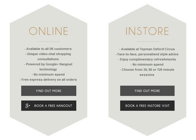 TOPMAN offer both online and instore personal shopping