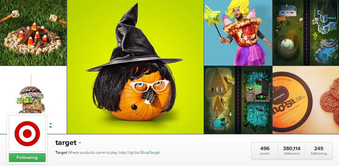 Target uses Instagram to create a Trick or Treat Halloween campaign