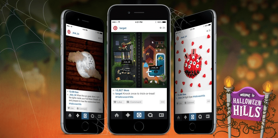 Target uses Instagram to promote their Halloween campaign