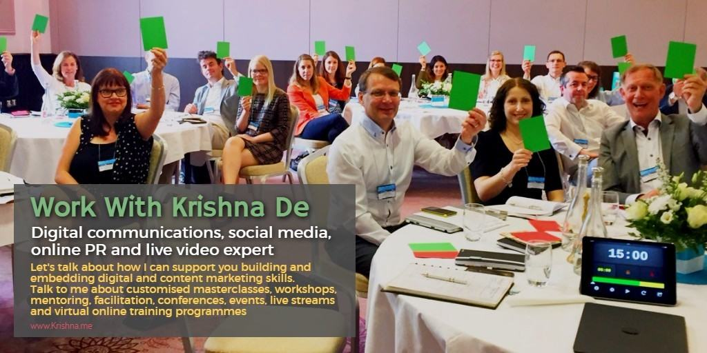 Ireland and UK leading digital strategist social media marketing and live video expert Krishna De