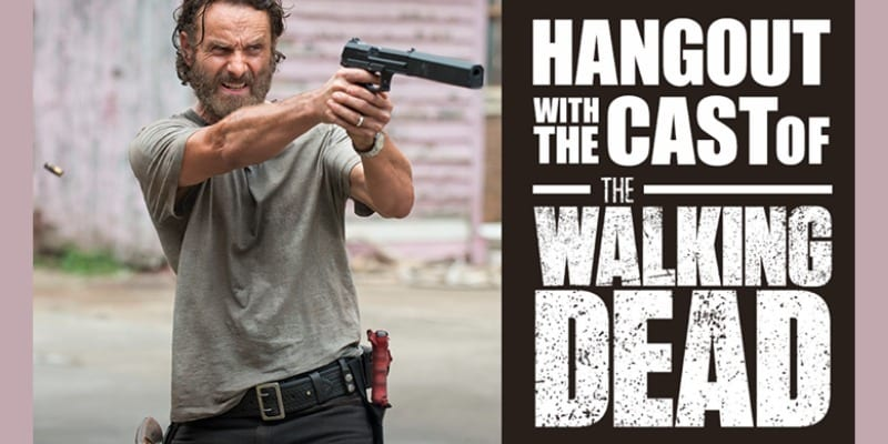 AMC TV uses Google Hangouts On Air to promote the forthcoming season of The Walking Dead