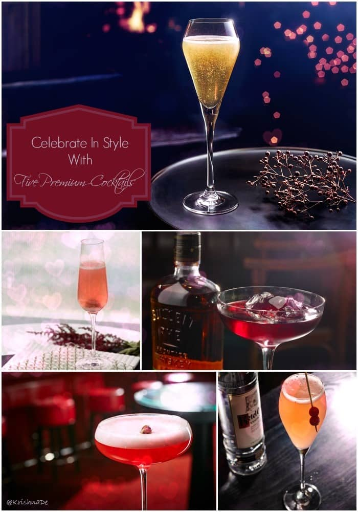 Celebrate Valentine's Day in style with five premium cocktails