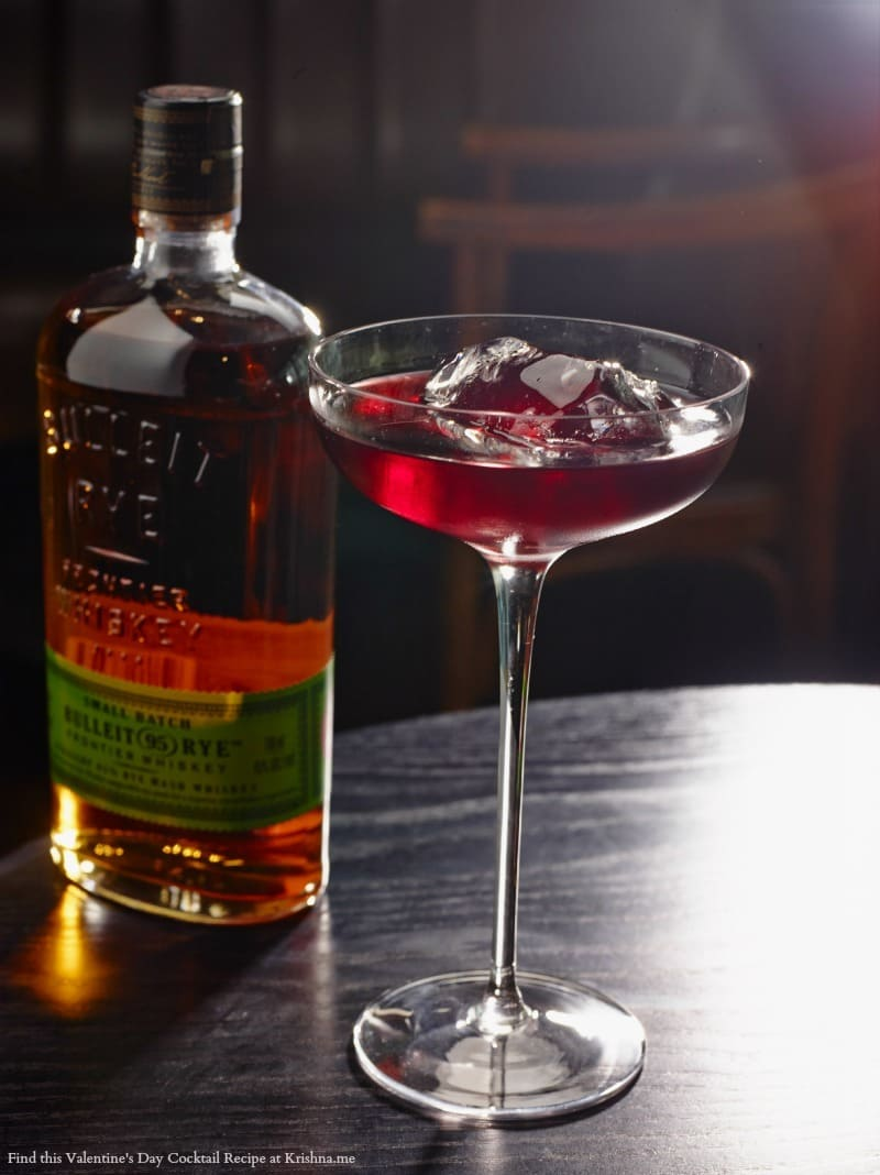 Recipe for Bulleit Love and Spice cocktail