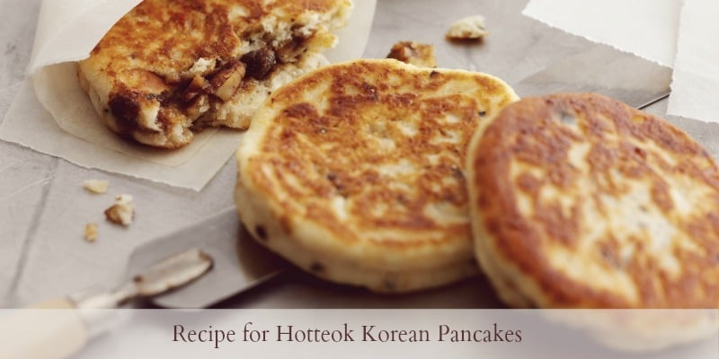 Recipe for Hotteok Korean Pancakes from Cooking With The Kids - spice up the changes for Pancake Tuesday
