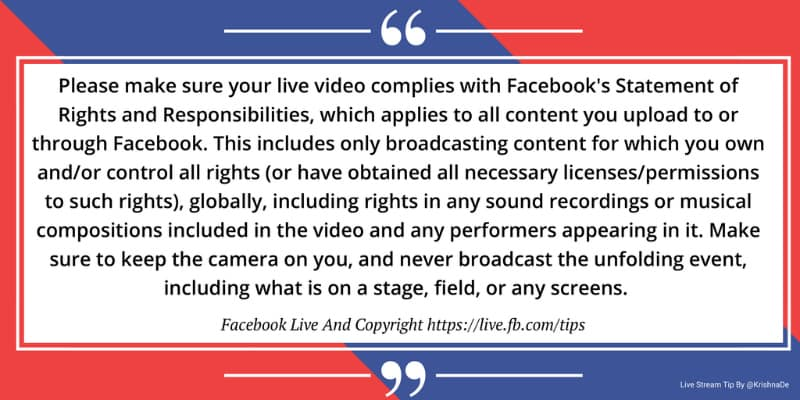 Facebook Live Copyright Guidance From Facebook