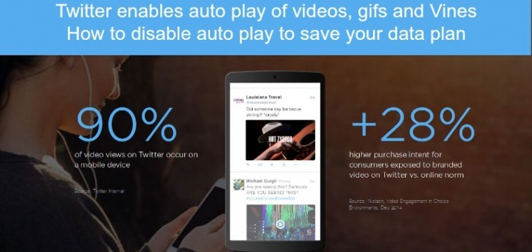 Twitter launches auto play videos, Gifs and Vines – but how do you turn auto play off and why you might want to?