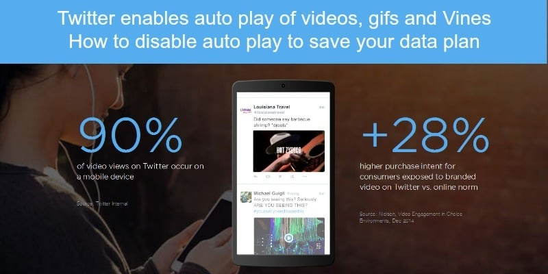 Twitter enables auto play of videos Vines and Gifs - what you need to know to save your data plan