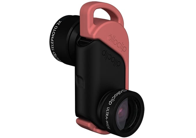 Periscope for business the Olloclip iPhone 6 Active lens with a wide angle and telephoto lens for smartphone photography