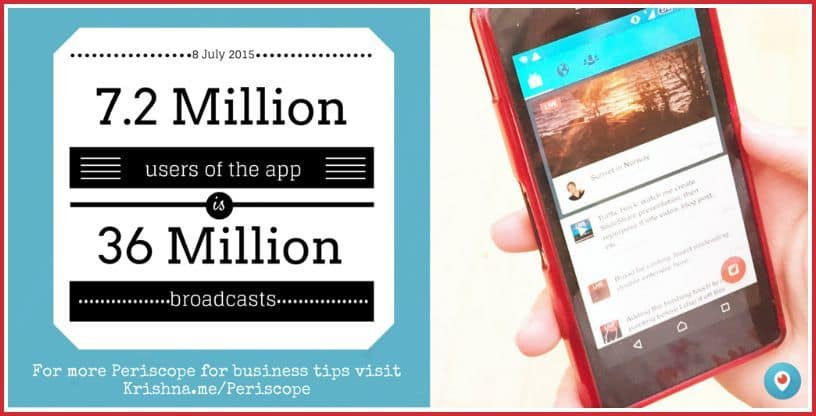 Periscope for business - the adoption of the mobile live streaming app as at 8 July 2015 by Krishna De
