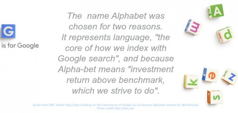 What's in a name? The rebranding of Google Inc to Alphabet Inc