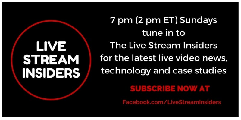 Subscribe to the weekly Live Stream Insiders show with Krishna De