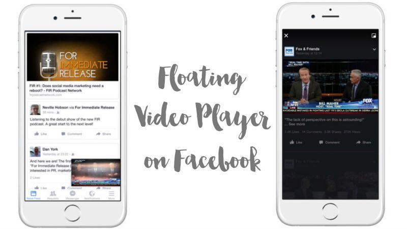 The Facebook floating video player enables you to watch when scrolling the news feed