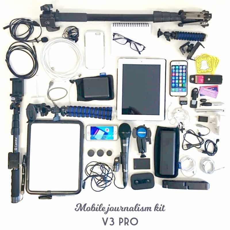 Mobile kit for professional brand journalists