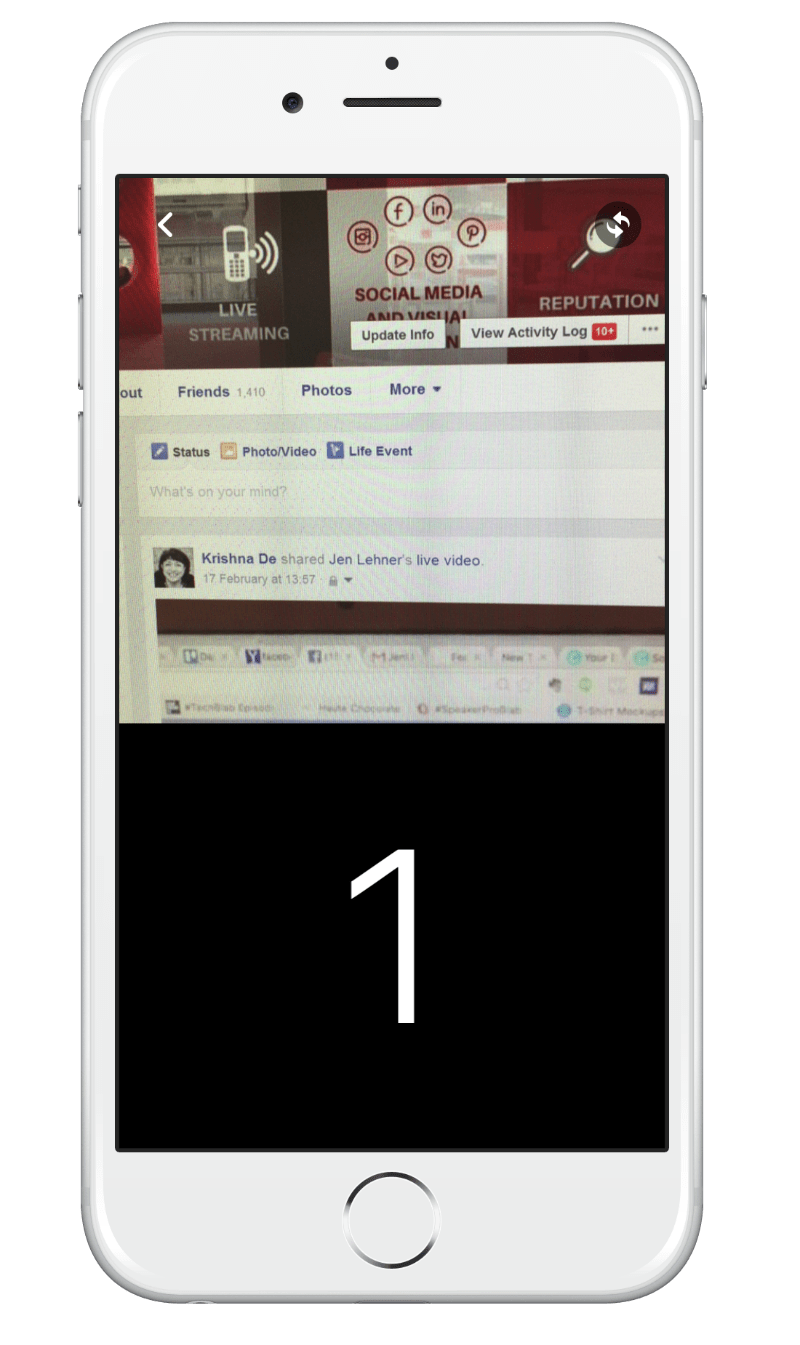 You will get a count down timer on your Facebook live video
