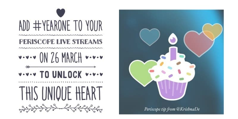 Periscope created unique hearts for their first anniversary