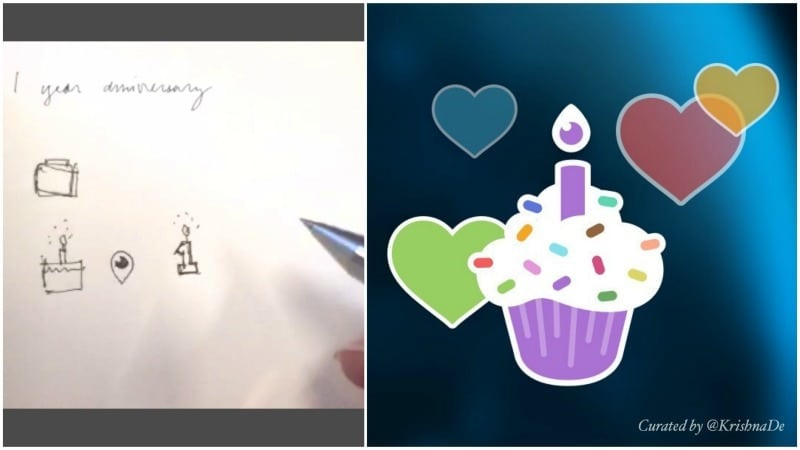 Periscope uses their own app to help source ideas for their first birthday heart