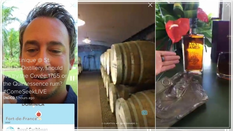 Royal Caribbean Periscope influencer campaign