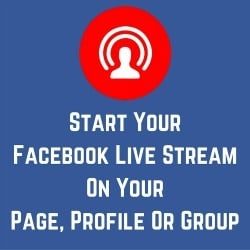Live stream on Facebook from your desktop here