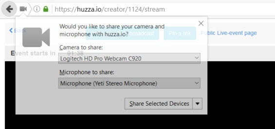Check your microphone and camera settings on Firefox