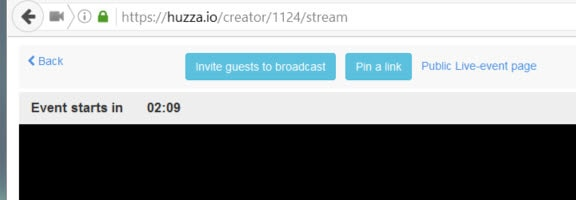 How to live stream with Huzza - prepare links to pin and invite people to join you