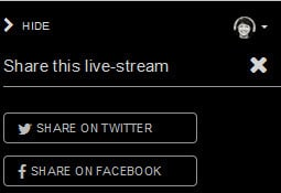 How to live stream with Huzza - share the live stream to Twitter or Facebook