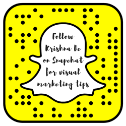 Follow Krishna De on Snapchat for exclusive visual marketing tips
