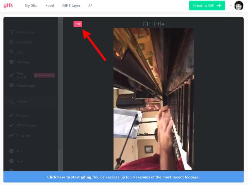 Create animated gifs of your Periscope live streams using Gifs-com