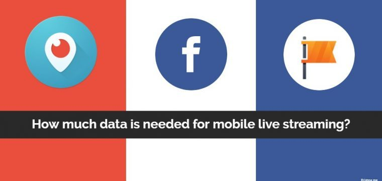 How much data is needed to live stream using Periscope or Facebook Live