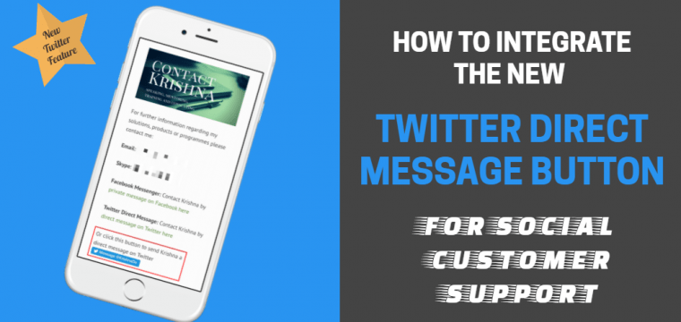 How to add the new Twitter Direct Message Button to your site for social customer support