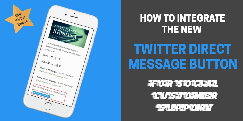 How to integrate the Twitter Direct Message Button into your website - a tutorial
