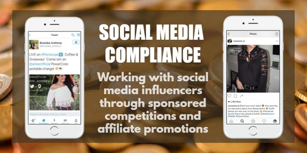 Social media disclosures and compliance for sponsored competitions and affiliate promotions