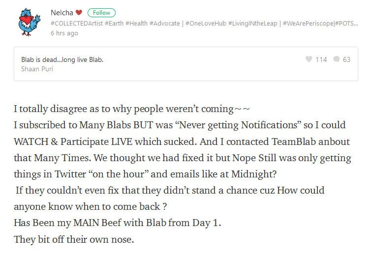 Some of the issues of why Blab failed to work are highlighted by users