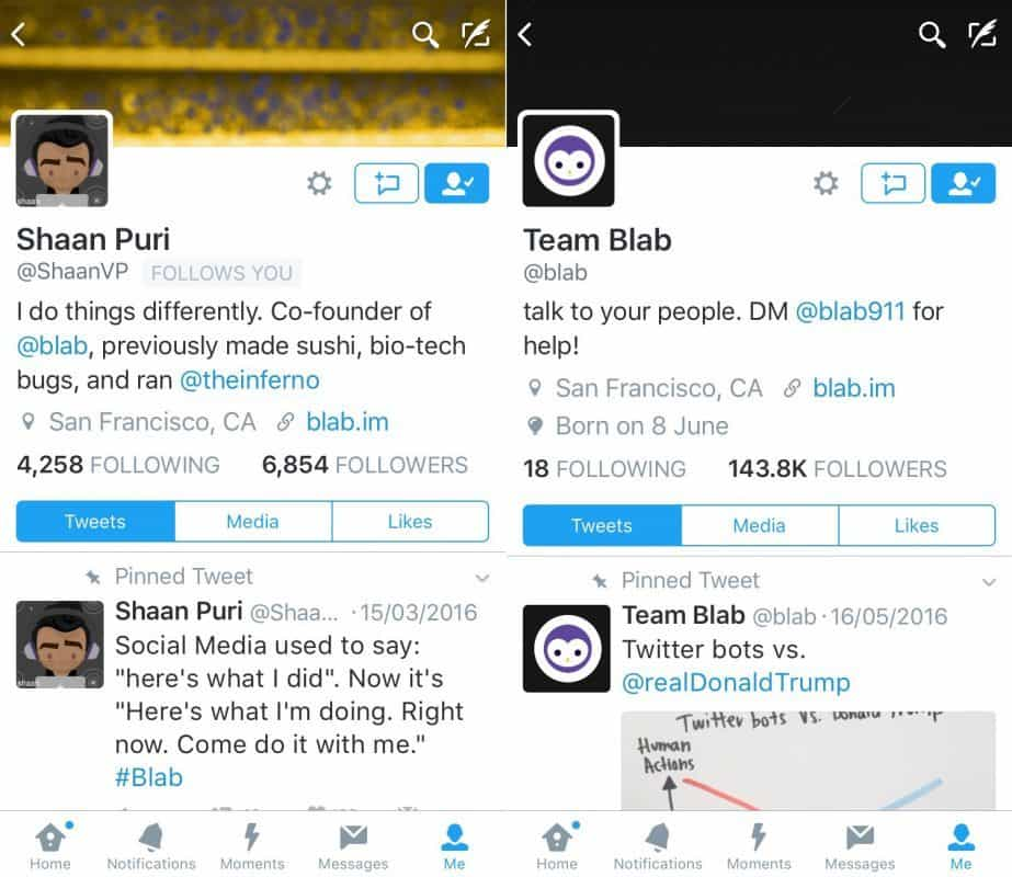 The closure of Blab is not mentioned on the co-founders Twitter accout or their main Twitter accountjpeg