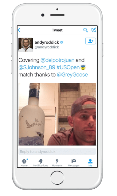 Andy Roddick sponsored Periscope live stream fails to disclose the sponsored stream on Twitter
