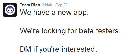 Blab looks for beta testers