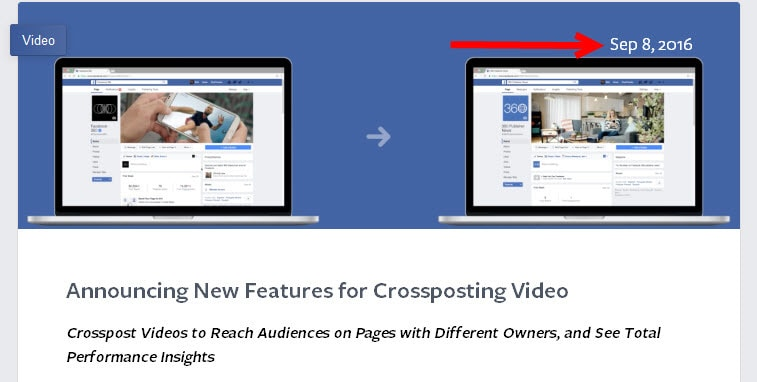 Facebook announces new features for cross posting video on 8 September 2016