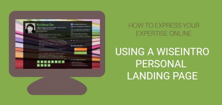How to express a professional image online to enhance your brand using Wiseintro for a personal landing page