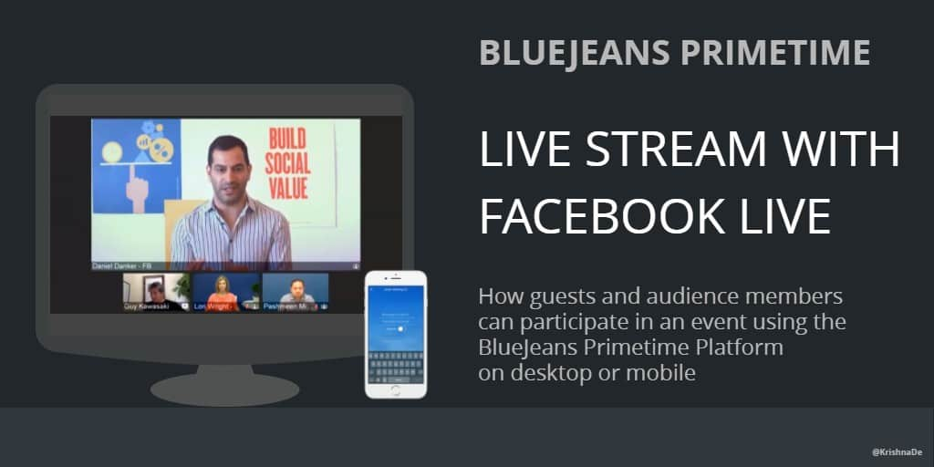 How to join a live stream on BlueJeans Primetime for Facebook Live as a guest or in the audience