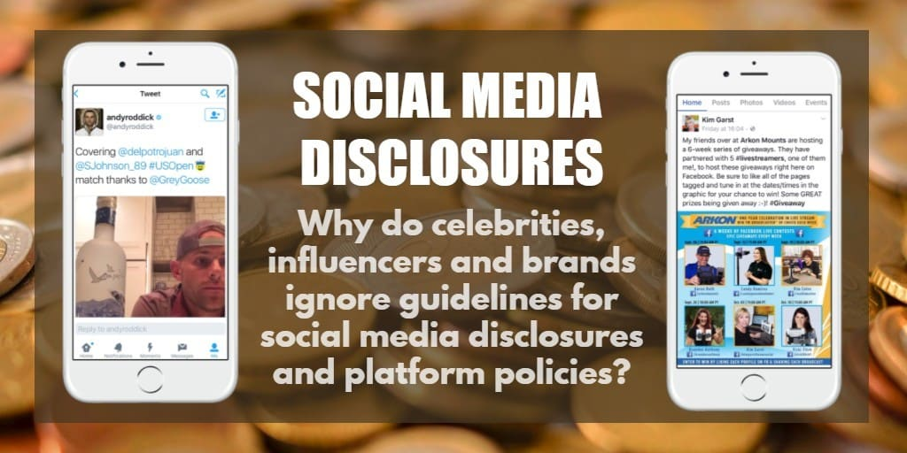 Social media disclosures and compliance for sponsored content on Twitter and Facebook