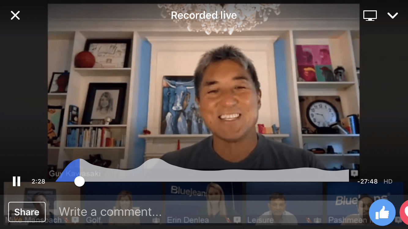 Live stream to Facebook Live using the BlueJeans Primetime platform
