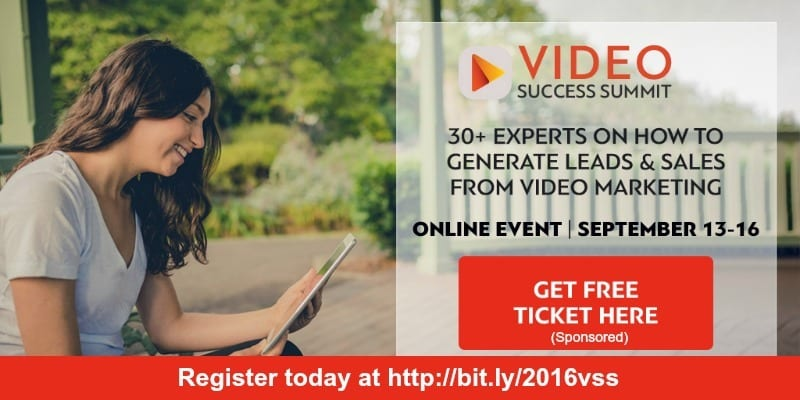 Video success conference free event with experts on lead genration and sales from video marketing