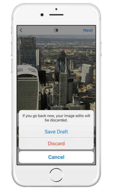 You will be able to save your Instagram post as a draft of delete it